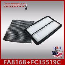 FA8168 FC35519C(CARBON) OEM QUALITY ENGINE & CABIN AIR FILTER: 2014-15 MDX 3.5L