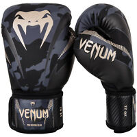 Venum Impact Camo Boxing Gloves Adult Sparring Muay Thai MMA Kickboxing 8-16oz