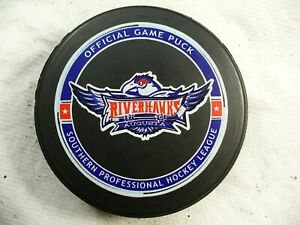 SPHL Augusta Riverhawks Team Logo Official Game Hockey Puck Check My Other Pucks