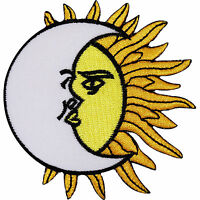 Moon Sun Embroidered Iron / Sew On Patch Clothes Dress Skirt Shirt Hat Cap Badge