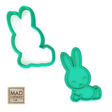 Miffy cookie stamp. Rabbit cookie cutter. Cartoon cookies.