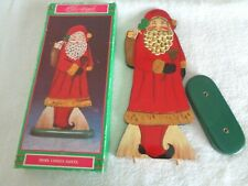 House Of Lloyd Christmas Around The World, Wood Figurine Here Comes Santa 13 In.