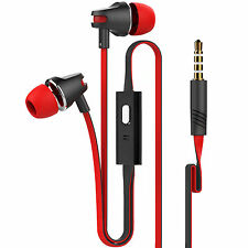 Super Mega Bass In-Ear Earbud Hands free Earphones Mic For Mobile Phone Red