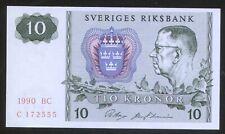 Sweden 10 Kronen 1990 Pick 56 UNC #172555