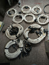 More details for job lot round pin 15a plug - iec female + iec male - female cables stage lights