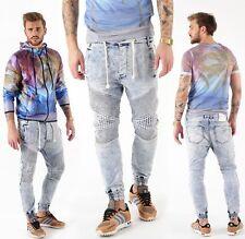 VSCT Clubwear Neo Cuffed Jeans Blue Stoned Jogg Jeans Hose