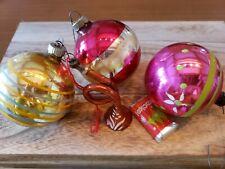 Vintage Mercury Glass Ornaments~Lot Of 4