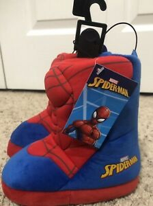 Spider-Man Boot Slippers Size 7-8
