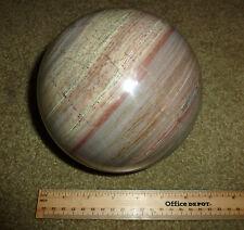 """Large Green Marble Gemstone Rock Sphere 4 1/4""""  US handmade"""