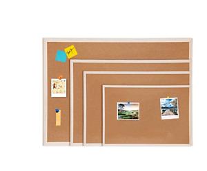 Cork Pin Message Notice Board Wooden Frame Store Office Memo School Pinboard