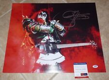Gene Simmons KISS Signed Autographed 16x20 Photo PSA Certified #8