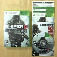 Sniper Ghost Warrior 2 Xbox 360 Complete W/ Manual History Book Inserts Tested