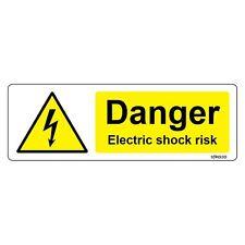 Danger Electric Shock Risk Sign 150 x 50mm Warning Hazard Vinyl Sticker decal