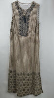 Isaac Mizrahi Live Geo Printed Maxi Dress w/ Embroidery Neutral Plus 18 A264685