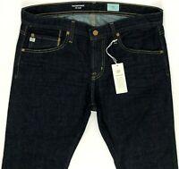 AG Adriano Goldschmied Matchbox Slim Straight Dark Blue Jeans sz 30, 33, 34, 36