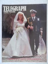 Prince Andrew & Sarah Royal Wedding Souvenir magazine Sunday Telegraph July 1986