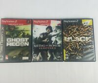 Ghost Recon Black Medal Of Honor Vanguard PS2 Sony Playstation 2 Video Games