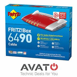 AVM FRITZBox 6490 Kabelmodem 4-Port Gigabit WLAN MESH Router *Frei nutzbar*
