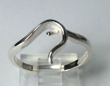 Sterling Silver Ring Setting For (1) 4-8mm Half-Drilled Pearl Size 8