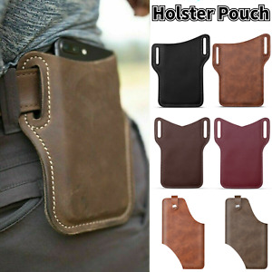 Men Cell Phone Belt Pack Bag Loop Waist Holster Pouch Case Leather Wallet Cover
