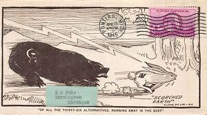 1945 Truman Inaugural on WWII Patriotic cover, Pontiac, MI cancel. [110834]