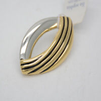 Lia sophia jewelry two tone gold silver polished necklace pendant slide for gift