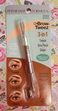 PHYSICIANS FORMULA 3-IN-1 EYE BROW PENCIL TWEEZER SHAPER LIGHT BROWN #2233