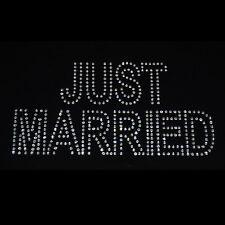 Just Married Iron On Rhinestone Transfer