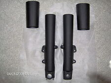 Harley touring fork legs/sliders fit 2000-2013-WRINKLE BLACK -FAIRING SKIRT ALSO