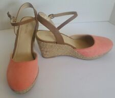 4d8416d31009 Great condition Maurices Pink Straw Wedge Ankle Strap Espadrille Womens  Size 9
