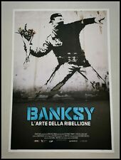 "BANKSY THE ART OF REBELLION Original Movie Poster 27x40"" Italian STREET ARTIST"