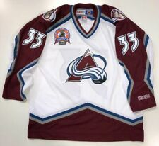 PATRICK ROY 1996 STANLEY CUP CCM NHL WHITE COLORADO AVALANCHE JERSEY X-LARGE