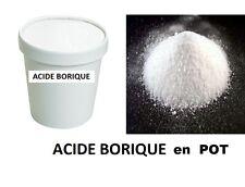 ACIDE BORIQUE 100% PERLE POT 1 KG INSECTICIDE FOURMIS D'ARGENTINE PUCE CANCRELAT