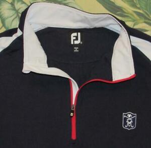 FOOTJOY Blue White 1/2 Zip Pullover Golf Jacket XL