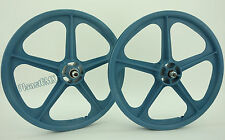 "Skyway 20"" TUFF WHEELS II old school bmx sealed Mags LIGHT BLUE Made in the USA"