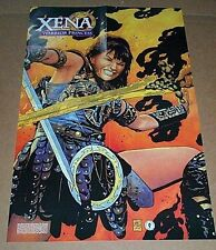 1999 Xena Warrior Princess DHC Dark Horse Comics comic book art promo poster 1