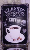 Blechschild Wandschild Metall Coffee  Deko Blechbild 25x20cm shabby vintage