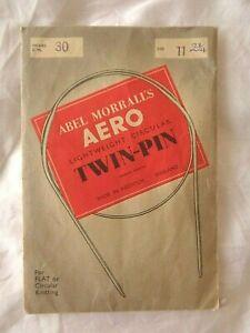 "Vintage Abel Morrall's Aero Lightweight Circular Twin-Pin Size 3mm(11) 79cm(30"")"