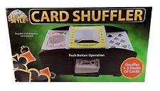 New Deluxe Casino Automatic Card Shuffler Standard Poker Bridge Cards 2 Decks