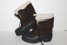 Kamik Winter Boots, Black/Brown, Youth US Size 2 Y