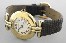 CARTIER MUST DE LADIES COLISEE VERMEIL YELLOW OVER STERLING SILVER WATCH