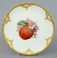 (k124) KPM Berlin apparat assiette, des fruits-motif, Neuzierat Gold reliefrand, 1. choix