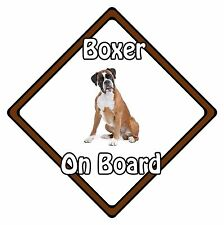 Non Personalised Dog On Board Car Safety Sign - Boxer On Board