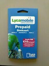 (Lot of 100) Lycamobile NL Prepaid Karte - 3 in 1 Sim - Anonym & Aktif