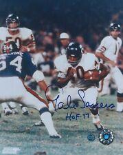 Gale Sayers Autograph 8x10 Photo Chicago Bears Signed w/ COA Inscription HOF 77
