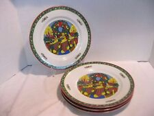 Trisa Christmas Memories Dinner Plates Stocking by the Fireplace Scene Set of 4