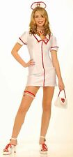 Sexy Nurse Costume Private Duty Adult Outfit One Size Dress w/Hat