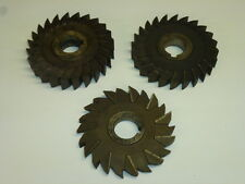 """Lot of (3) Assorted 5"""" Milling Cutters, Morse, National & Star"""