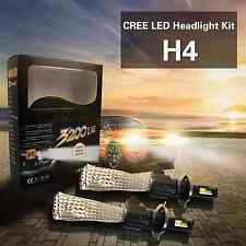Pair 80W Cree H4 HB2 LED Headlight Conversion Kit  3200LM Bulb Replacement 6500K