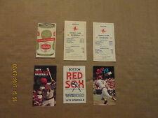 MLB Boston Red Sox Circa 1972 1973 1976 1977 1978 1979 Lot of 6 Pocket Schedules